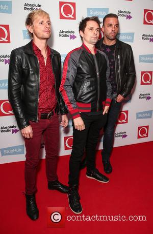 Muse (Matt Bellamy, Chris Wolstenholme and Dominic Howard) seen arriving at the 2016 StubHub Q Awards, London, United Kingdom -...