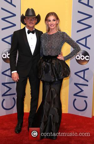 Tim McGraw seen arriving at the 50th annual CMA (Country Music Association) Awards held at Music City Center in Nashville,...