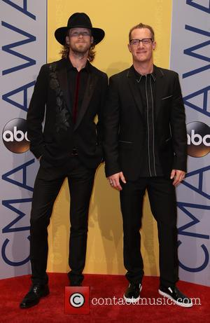 Florida Georgia Line seen arriving at the 50th annual CMA (Country Music Association) Awards held at Music City Center in...