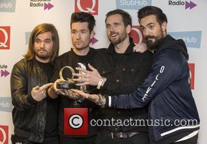 Bastille seen their award in the press room at the 2016 StubHub Q Awards. Bastille won the 'Best Track' award...