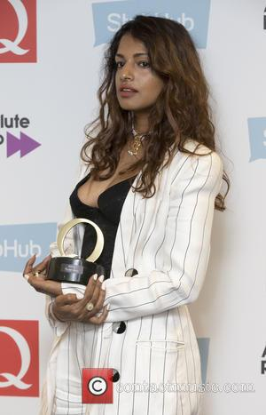 M.I.A seen holding her award in the press room at the 2016 StubHub Q Awards. M.I.A won the 'Q Innovation...