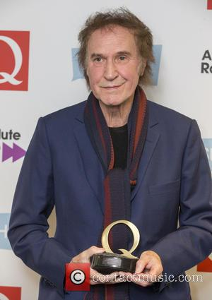 Ray Davies seen holding his award in the press room at the 2016 StubHub Q Awards. Ray won the 'Classic...