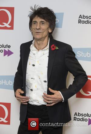 Rolling Stone Ronnie Wood seen in the press room for the 2016 StubHub Q Awards - London, United Kingdom -...