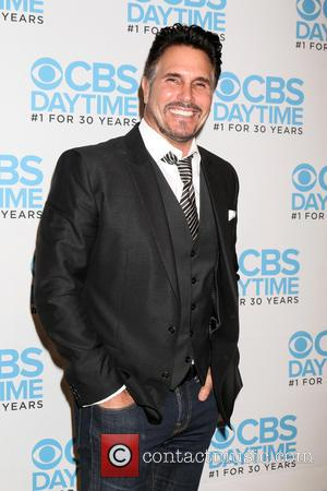Don Diamont seen alone and with Bradley Bell at a celebration hosted by CBS for their show 'The Bold and...