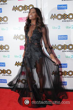 AJ Odudu arriving at the 2016 MOBO Awards held in Glasgow at the SSE Hydro - Scotland, United Kingdom -...