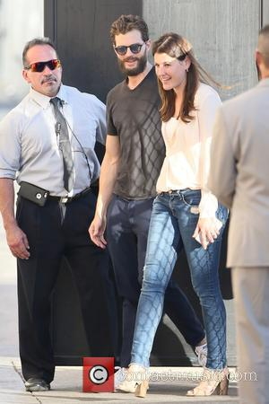 Jamie Dornan arrives at the ABC studios for a recording of Jimmy Kimmel Live - Los Angeles, California, United States...