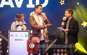 Craig David, Will Manning and Aimee Vivian seen on stage whilst Craig David turns on the 2016 Oxford Streets Christmas...