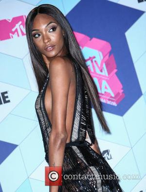 Jourdan Dunn in the press room at the 2016 MTV Europe Music Awards (EMAs) held at the Ahoy Rotterdam, Netherlands...