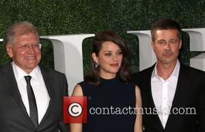 Robert Zemeckis, Marion Cotillard and Brad Pitt