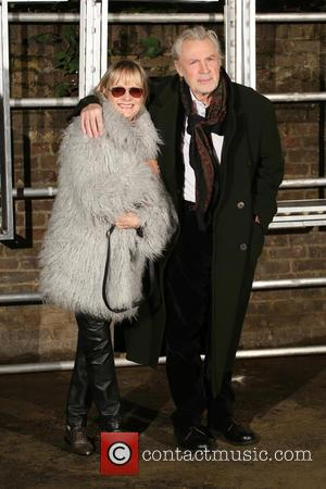 Twiggy and Leigh Lawson at the showcase for Stella McCartney's 2017 menswear line held at Abbey Road Studios, London, United...