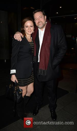 Guy Garvey and Rachael Stirling arrive at the Hilton Hotel for the North West RTS Awards. - Manchester, United Kingdom...