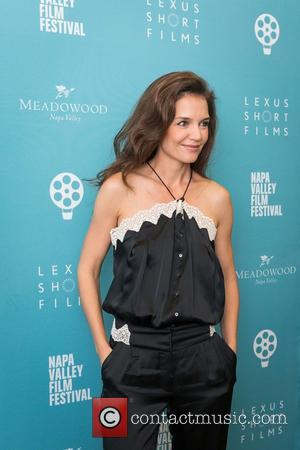 Katie Holmes seen alone and with Stefania Owen at a screening of 'All We Had' held at the Copia Screening...