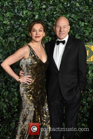 Sir Patrick Stewart and Lady Stewart seen arriving at the 2016 Evening Standard Theatre Awards held at the Old Vic...