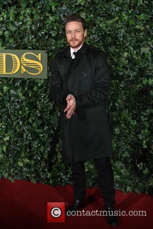 James McAvoy seen arriving at the 2016 Evening Standard Theatre Awards held at the Old Vic -  London, United...