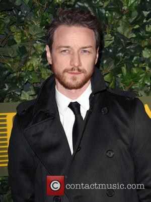James McAvoy seen attending the 2016 London Evening Standard Theatre Awards held at the Old Vic Theatre - London, United...