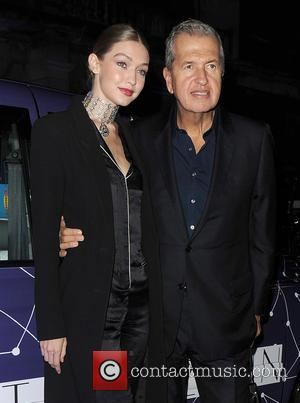 Gigi Hadid and Mario Testino arrive at the Royal Academy of Arts, for the Stuart Weitzman VIP dinner - London,...
