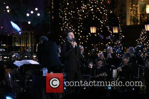 Seth MacFarlane seen performing with Lea Michele and Rachel Platten. Seth hosted The Grove Christmas event which was presented by...