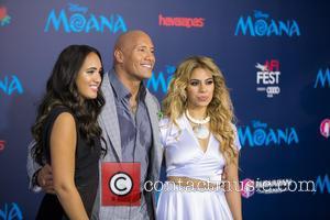 Dwayne Johnson, Simone Alexandra Johnson and Dinah Jane Hansen