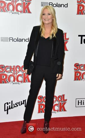 Gaby Roslin on the red carpet for the opening night of School of Rock held at New London Theatre -...