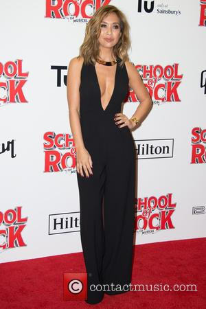 Myleene Klass on the red carpet for the opening night of School of Rock held at New London Theatre -...