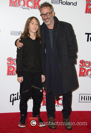 David Baddiel on the red carpet for the opening night of School of Rock held at New London Theatre -...
