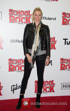 Jodie Kidd on the red carpet for the opening night of School of Rock held at New London Theatre -...