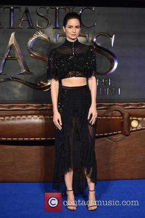 Katherine Waterston seen at the UK Premiere of Fantastic Beasts And Where To Find Them held at Cineworld Leicester Square,...