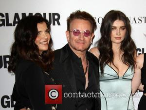 Bono, Wife Alison Hewson and Daughter Eve Hewson