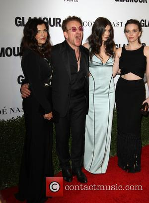 Bono, Wife Alison Hewson, Daughters Eve Hewson and Jordan Hewson