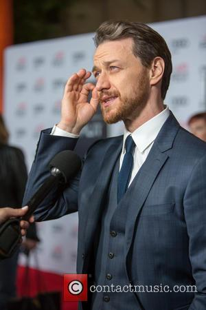 James McAvoy seen alone and with M. Night Shyamalan and Anya Taylor-Joy at the 2016 AFI FEST Screening of 'Split'...