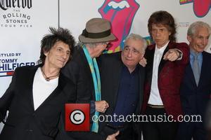 Mick Jagger, Keith Richards, Ronnie Wood, Charlie Watts and Martin Scorsese