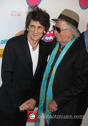 Ronnie Wood arrives at The Rolling Stones Exhibitionism opening night held at Industria Superstudio, New York City, United States -...