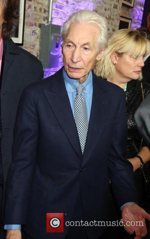 Charlie Watts arrives at The Rolling Stones Exhibitionism opening night held at Industria Superstudio, New York City, United States -...