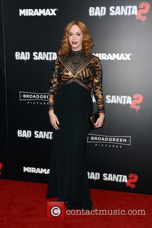 Christina Hendricks at the New York Premiere of 'Bad Santa 2' held at AMC Loews Lincoln Square, New York, United...