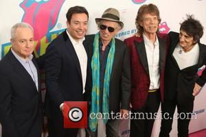 Lorne Michael, Jimmy Fallon, Kieth Richards, Mick Jagger and Ronnie Wood