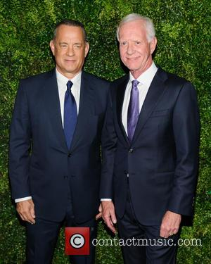 Tom Hanks seen alone and with his wife Rita Wilson at the Museum of Modern Art Film Benefit Honoring Tom...
