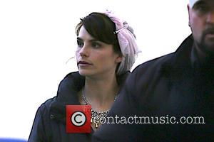 Actress Charlotte Riley on the film set of 'King Charles III'. Charlotte plays Kate Middleton in the new BBC movie...
