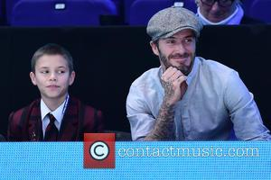 David Beckham and Romeo Beckham attend the ATP World Tour Finals held at O2 Arena - London, United Kingdom -...
