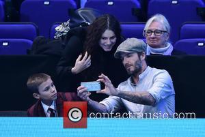 David Beckham and Romeo Beckham