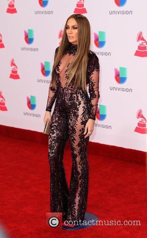 Jennifer Lopez seen arriving at the 17th Annual Latin Grammy Awards held at T-Mobile Arena in Las Vegas, Nevada, United...