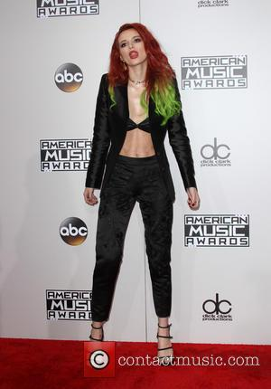 Bella Thorne arrives at the 2016 American Music Awards held at the Microsoft Theatre, Los Angeles, California, United States -...