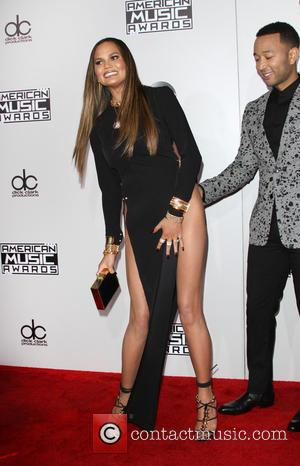 Chrissy Teigen and John Legend arrive at the 2016 American Music Awards held at the Microsoft Theatre, Los Angeles, California,...