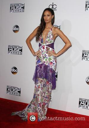 Joan Smalls arrives at the 2016 American Music Awards held at the Microsoft Theatre, Los Angeles, California, United States -...