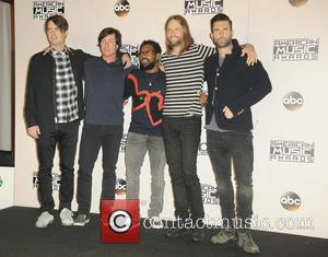 Maroon 5 in the press room at the 2016 American Music Awards - Los Angeles, California, United States - Monday...