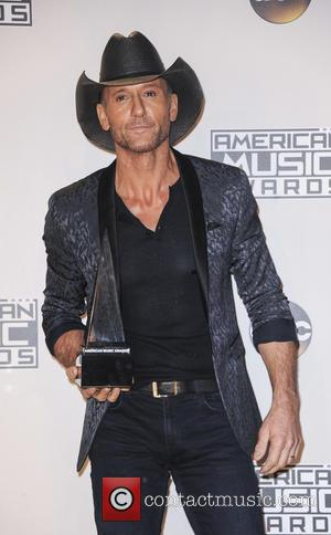Tim McGraw in the press room at the 2016 American Music Awards - Los Angeles, California, United States - Monday...