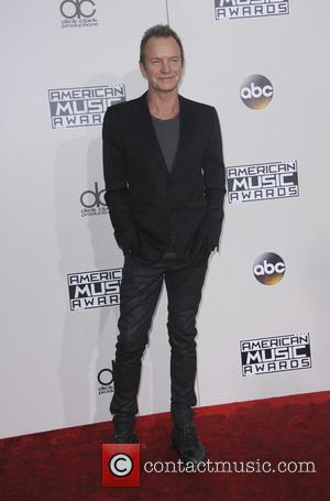 Sting arrives at the 2016 American Music Awards held at the Microsoft Theatre, Los Angeles, California, United States - Sunday...