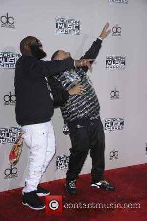 Rick Ross and DJ Khaled arrive at the 2016 American Music Awards held at the Microsoft Theatre, Los Angeles, California,...