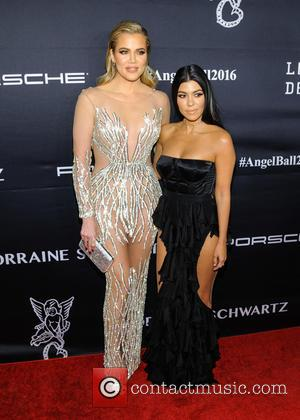 Khloe Kardashian and Kourtney Kardashian seen at the 2016 Gabrielle's Angel Ball held at Cipriani Wall St., New York, United...