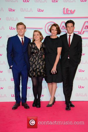 Keeley Hawes seen arriving at the 2016 ITV Gala held at the London Palladium Theatre - London, United Kingdom -...