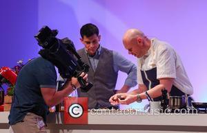 Tom Kerridge - BBC Good Food Show Birmingham - Tom Kerridge gives a cooking demonstration in the Supertheatre at...